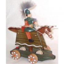 Fahrspiel - Ritter, grün mit Schild und Lanze