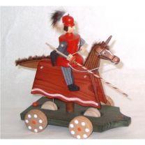 Fahrspiel - Ritter, rot mit Schild und Lanze