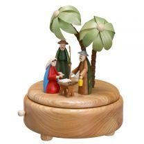 Spieldose - Christi Geburt, klein - farbige Figuren