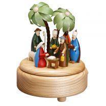 Spieldose - Christi Geburt,mittel - farbige Figuren