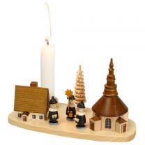Kerzenhalter - Seiffener Dorf mit Kurrende