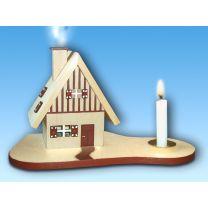 Hexenhaus - natur - Kerze