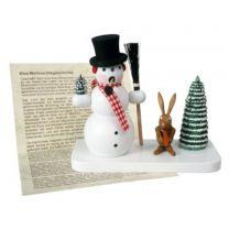 Räuchermann - Schneeman, Hase, Weihnachtsgeschichte