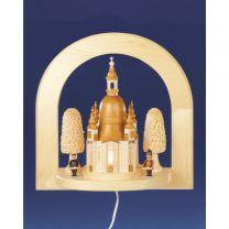 Wandbild Frauenkirche mit Striezelkinder elektr. beleuchtet