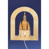 Wandbild Frauenkirche mit Innenbeleuchtung