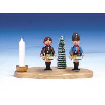 Kerzenhalter Striezelkinder mit Licht, ca. 10 cm, bunt