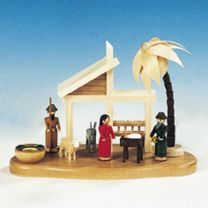 Kerzenhalter Christi Geburt, bunt