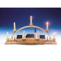Schwibbogen Schneeberger Kirche und Innenbeleuchtung elektr. beleuchtet