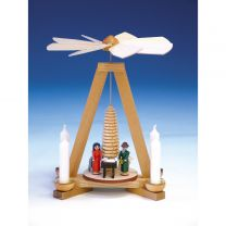 Pyramide mit Christi Geburt, bunt