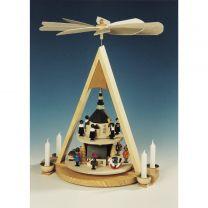 Pyramide mit Seiffener Weihnacht, 2-stöckig