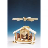 Pyramide mit Christi Geburt, natur, Figuren 8 cm