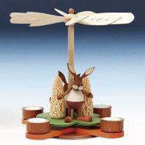 Glückskleepyramide Hasen, bunt oder natur