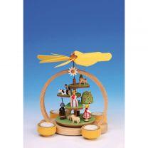 Teelichtpyramide mit Sommerwiese