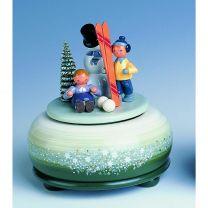 Spieldose - Winterfreuden Ski