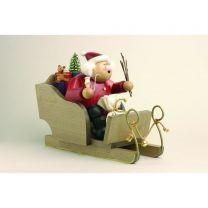 Räuchermann - Weihnachtsmann mit Schlitten