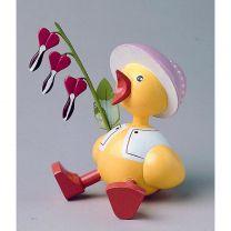 Küken - mit Herzblume, Hut rosa