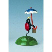 Marienkäfer mit Schirm