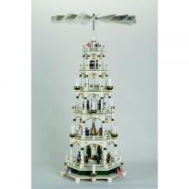 Pyramide, weiß/grün - Christi Geburt
