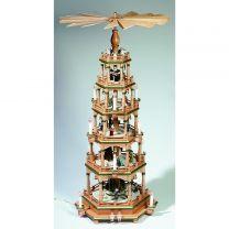 Pyramide, natur/grün - Christi Geburt