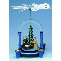 Pyramide - Christi Geburt blau/grau