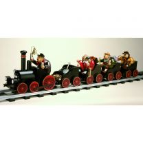 Räuchermann - Lokomotive mit Räuchermännchen Lokführer