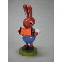 Hase mit Ziehharmonika - Höhe 8 cm