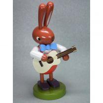 Hase mit Gitarre - Höhe 16 cm