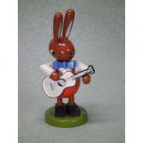 Hase mit Gitarre - Höhe 8 cm