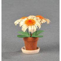 Blumentöpfe - orange/ weiß