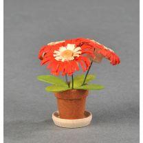 Blumentöpfe - rot/ natur