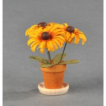 Blumentöpfe - orange/ braun