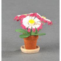 Blumentöpfe - rosa/ weiß/ gelb