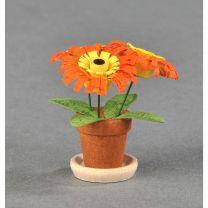 Blumentöpfe - orange/ gelb