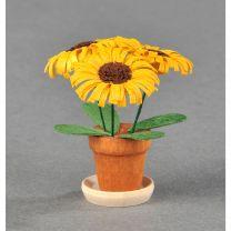 Blumentöpfe - gelb/ braun