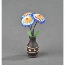 Blumenvasen - blau