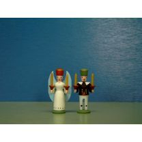 Seiffener Miniaturen - Engel und Bergmann