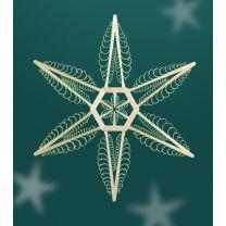 Fensterschmuck - Stern, 2-seitig gestochene Leisten