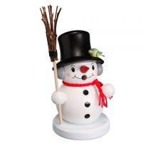 Räuchermann - Schneemann mit Besen