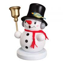 Räuchermann - Schneemann mit Glocke