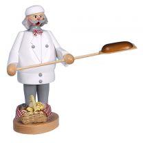 Räuchermann - Bäcker, weiß