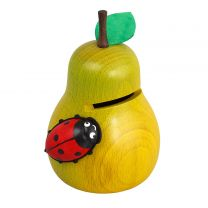 Spardose - Birne mit Käfer