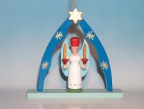 Christbaumschmuck - Engel mit Kerze