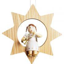 Baumbehang - Engel mit Waldhorn im Stern, groß