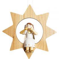 Baumbehang - Engel mit Trompete im Stern, groß
