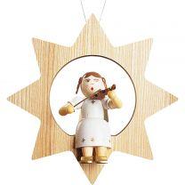 Baumbehang - Engel mit Geige im Stern, groß