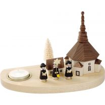 Kerzenhalter - Seiffener Kirche mit Kurrende