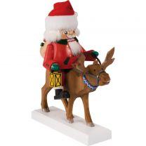 Nußknacker - Santa auf Rentier