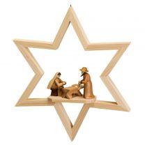 Fensterschmuck - Stern mit Christi Geburt