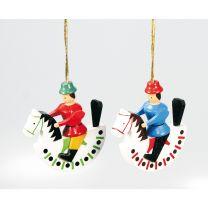 Baumbehang - Reiterlein zum Hängen (rot oder blau)