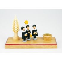 Kerzenhalter mit 3 Kurrendefiguren - Baum natur